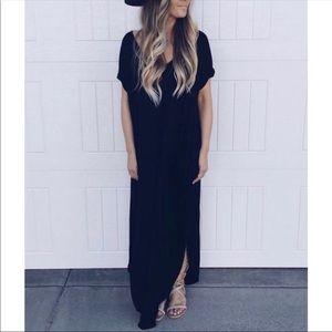 Maxi Oversized  Black Dress XL W/Dress N/I